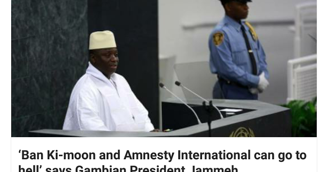 Time to meet force with proportionate force against President Jammeh
