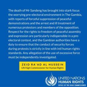 UN Statement on Solo Sendeng