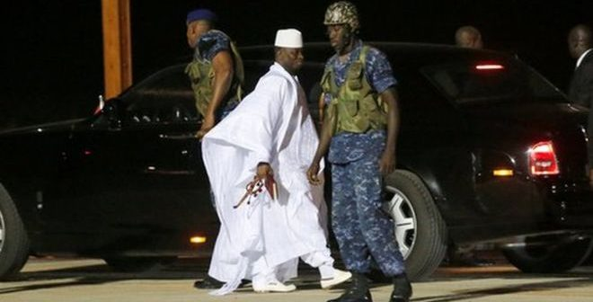 Breaking: Gambia's Former Dictator Departed Banjul Amid Imminent ECOWAS Military Invasion