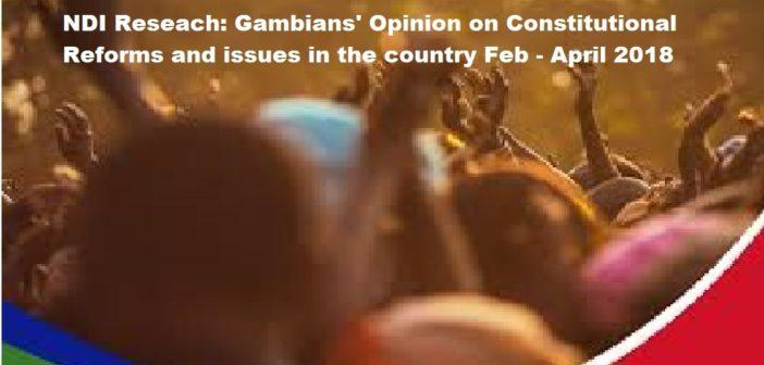 NDI: Report on Public Opinion Research in The Gambia, February to April 2018