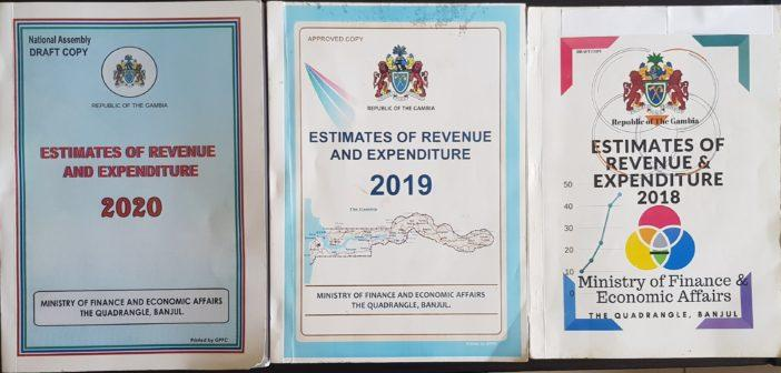 2018, 2019 & 2020 Estimates of Revenue & Expenditure