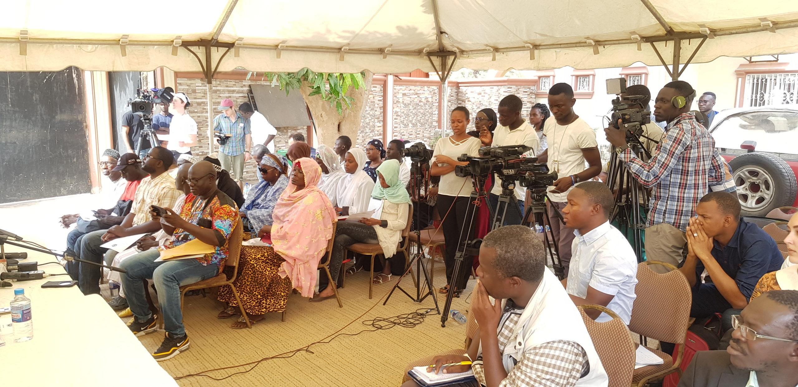 Cross Section of Attendees at Press Conference