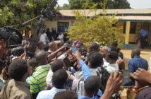 Freed Journalists at Yundum Police Station