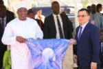 President Barrow receives gift from China