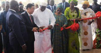 President Barrow cuts ribbon for ICC
