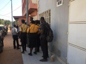 Immigration Officers outside Semlex Office
