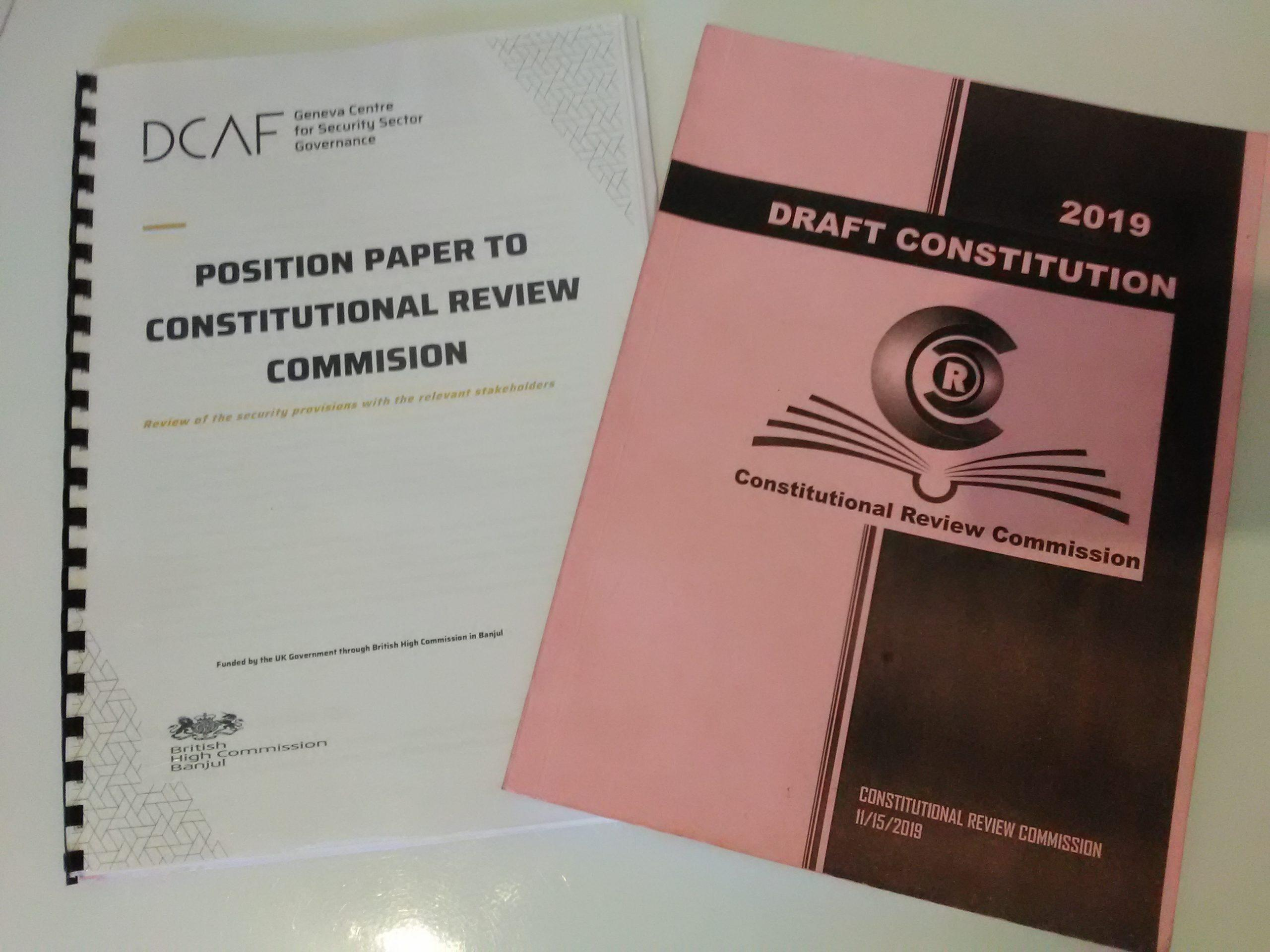 Position Paper and Draft Constitution