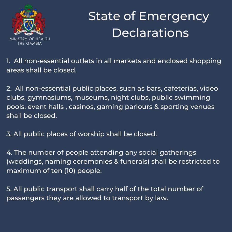 State of Public Emergency Declaration