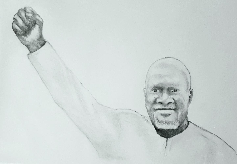 Madi Jobarteh Sketch (c) Benny Ek-Williams (Ebrima Tubab)