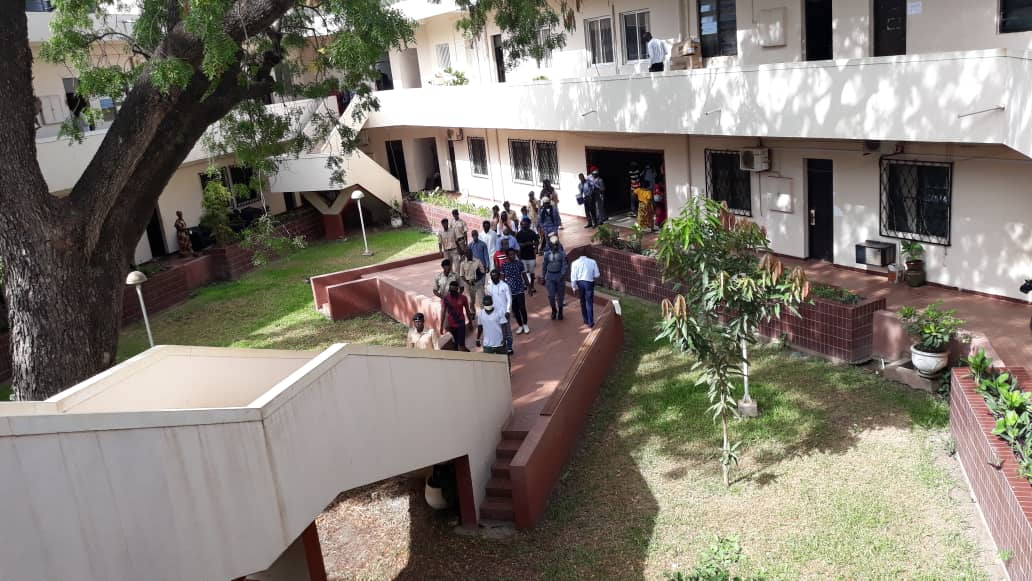 Kebba Secka Murder Suspects walking into Banjul High Court