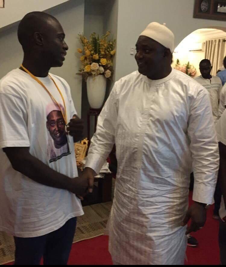 Bob Keita meeting President Barrow