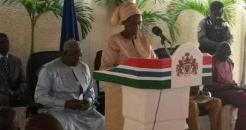 DPPR in front of President Barrow
