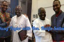 Hon Halifa Sallah and Author