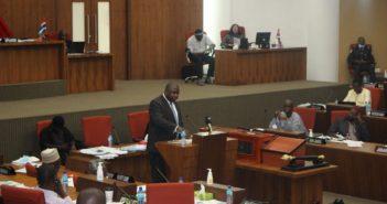Attorney General addressing Parliament
