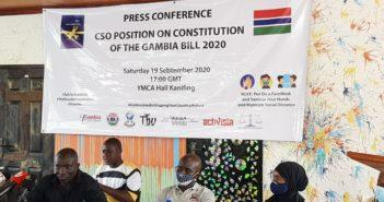 CSO Press Conference Urging NAMs to pass the Constitution Bill 2020
