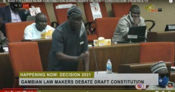 Hon Mahtarr Jeng in support of Constitution Bill
