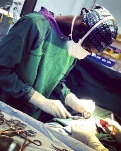 Dr Sohna conducting surgical operation