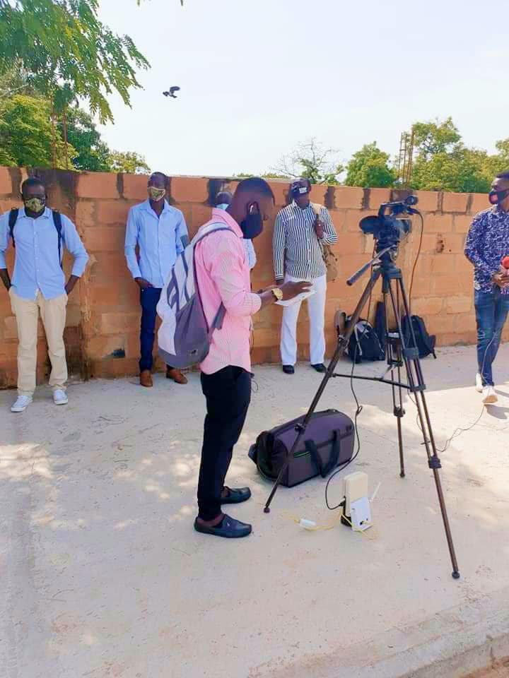 Gambian Media Outside National Assembly