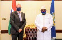 Outgoing EU Ambassador & President Barrow