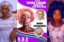 Awa Gaye (NPP) & Yama Cham (GDC)