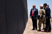 Trump Inspecting a Border Wall