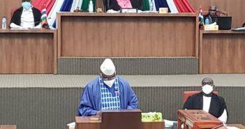 Finance Minister, Hon. Mambury Njie (P.C. Kexx Sanneh)