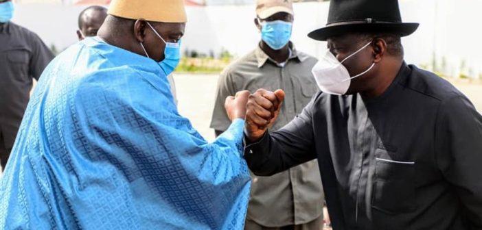 President Barrow and former President Goodluck