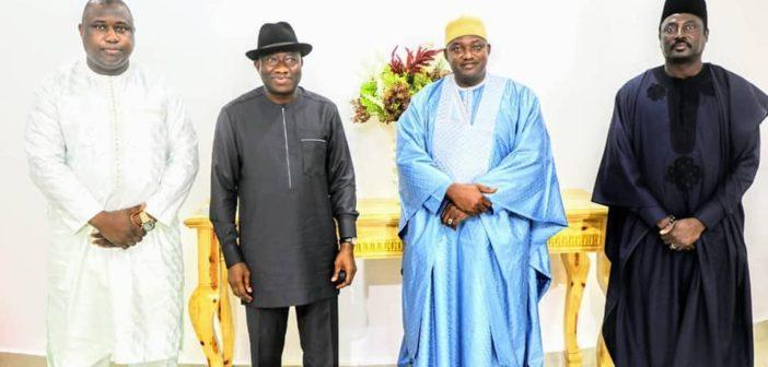 Minister of Justice, H.E Goodluck, President Barrow, Minister of Foreign Affairs