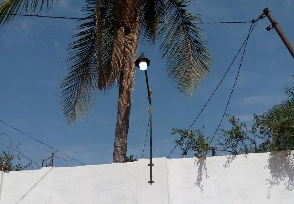 Installed Street Light at Freetown Street