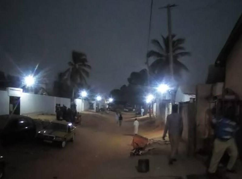 Lighten Freetown Street at Night