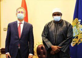 President Barrow receives Italian and Ivorian Ambassadors