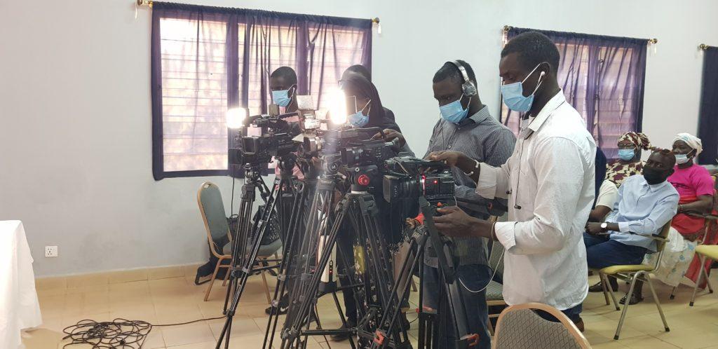 Media at Hon. Touma Njai press conference