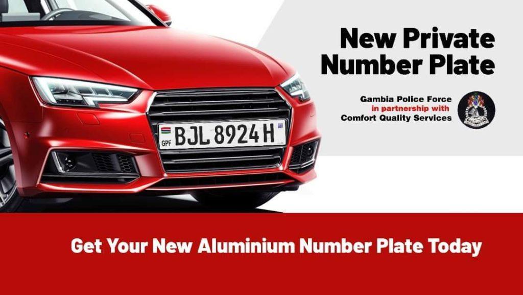 GPF and Comfort Aluminium Number Plate Billboard Graphic