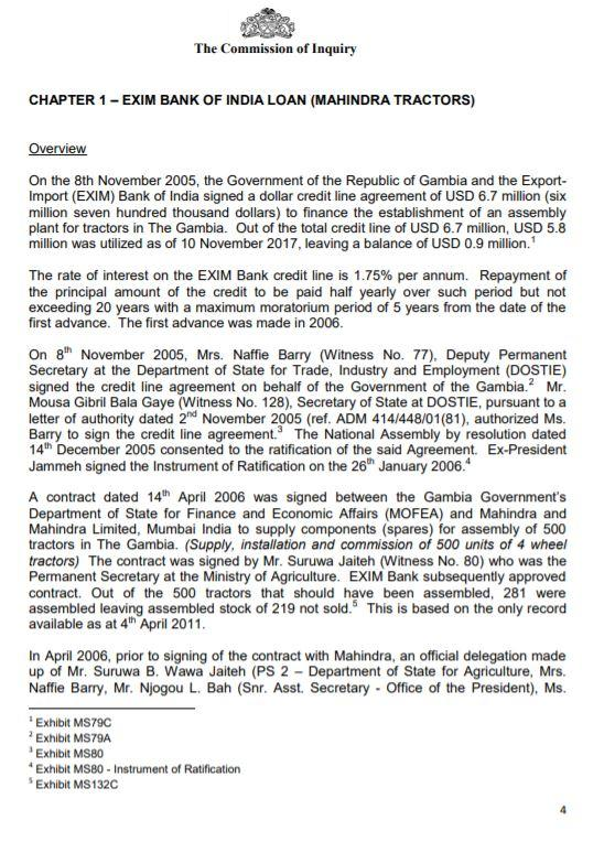 EXIM Bank of India Loan Pg 1