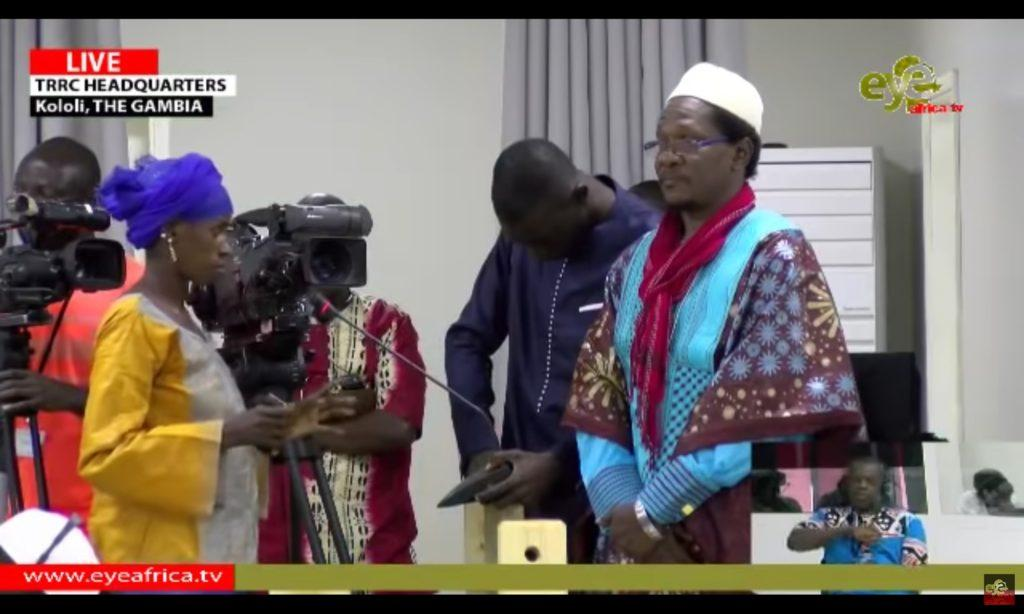 Ms Holo Bah confronts Sanna Sabally for Gunshot injuries to her right arm [TRRC Hearing 24th April 2019]