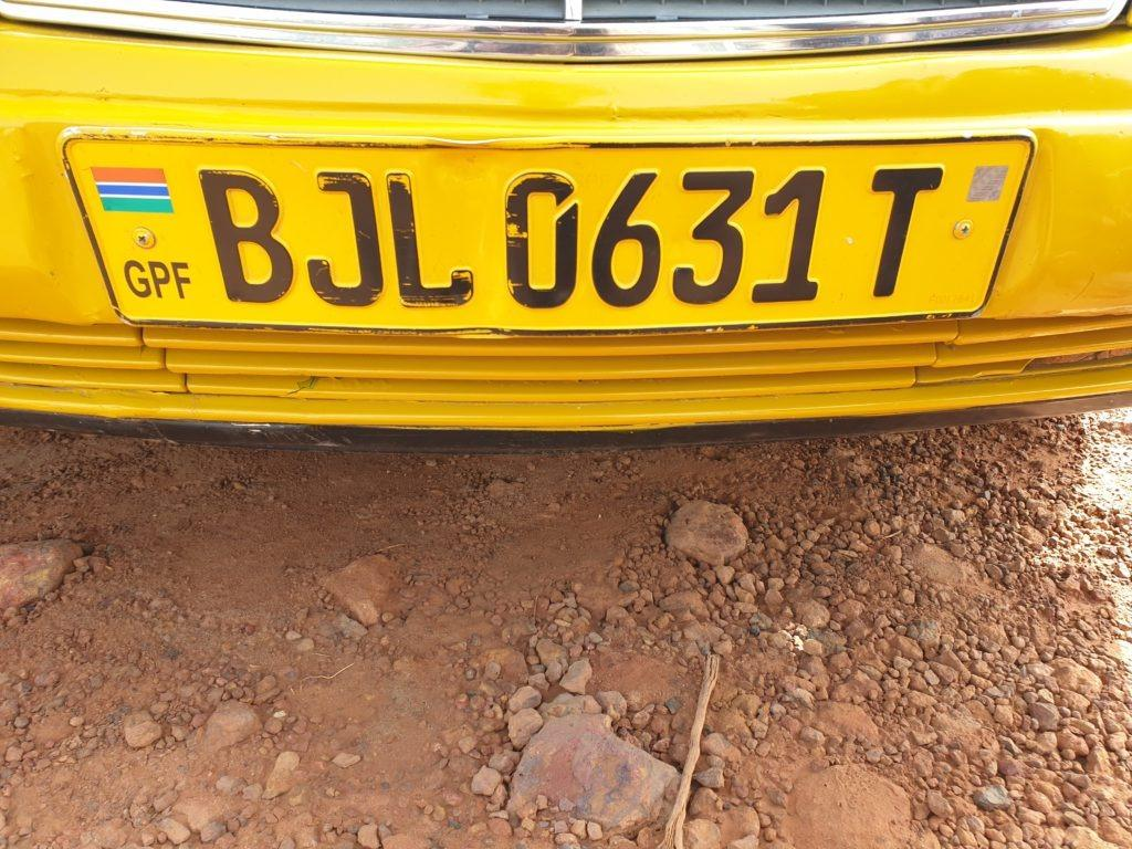 Number Plate of Scanned Taxi