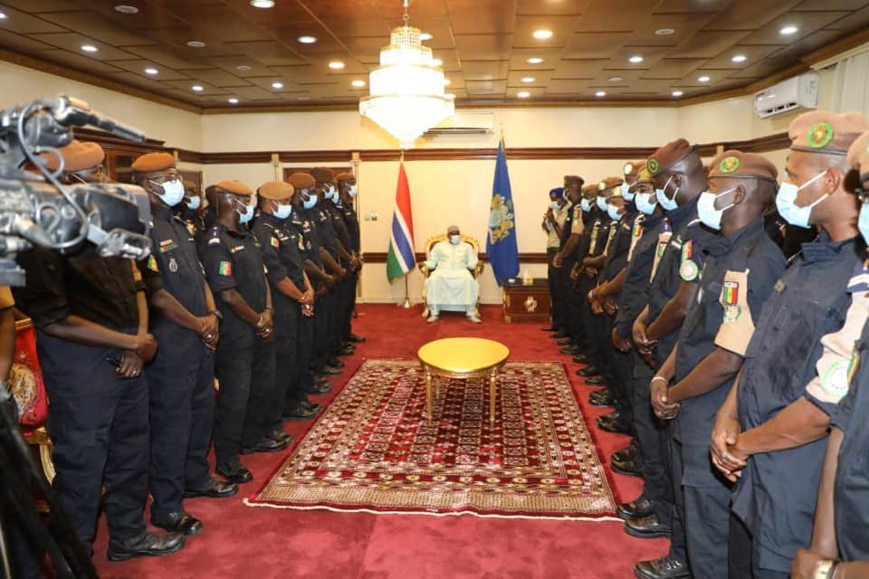 President Barrow bids 40 Senegalese Security Officers Farewell
