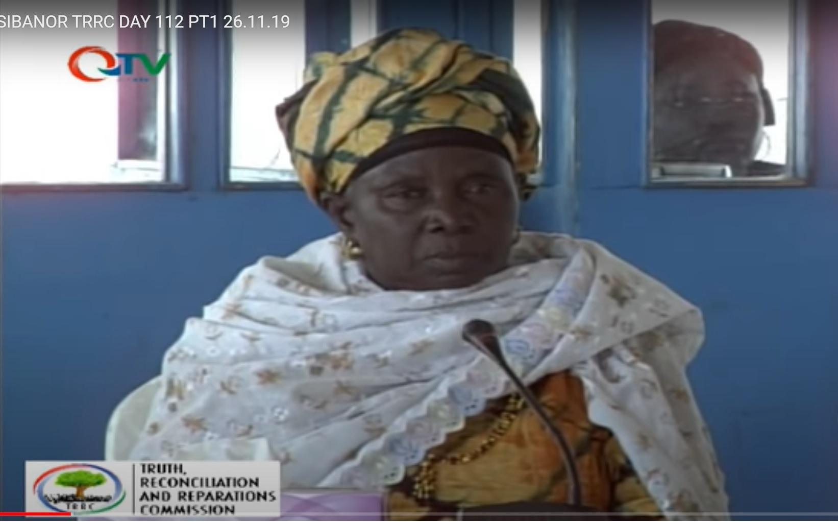 Fatu Camara testifying at the TRRC at Sibanor