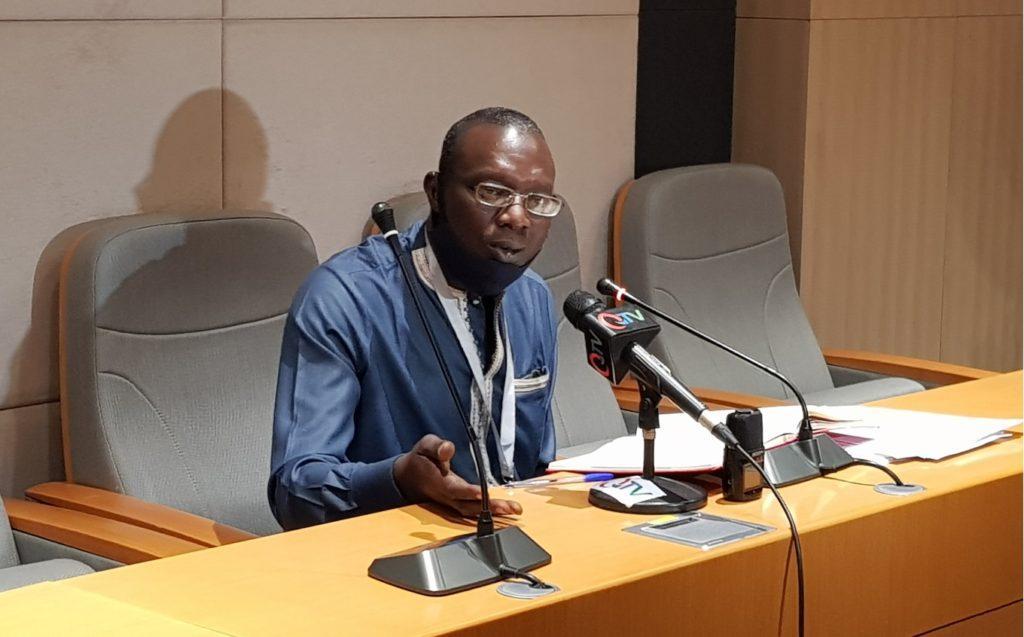 IEC's Sambujang Njie at engagement with CSOs and Media