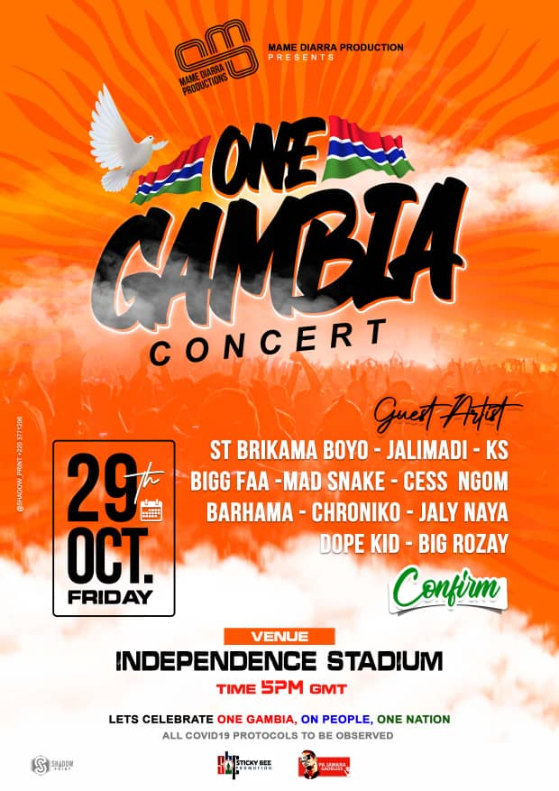 One Gambia Concert Flyer