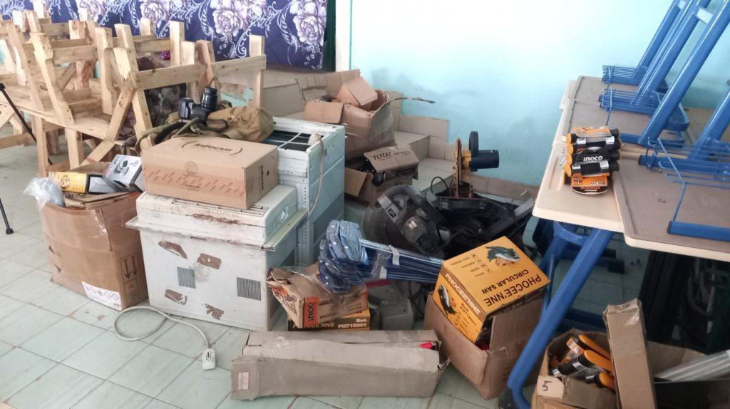 School Material Donation Sample (c) yusef Taylor
