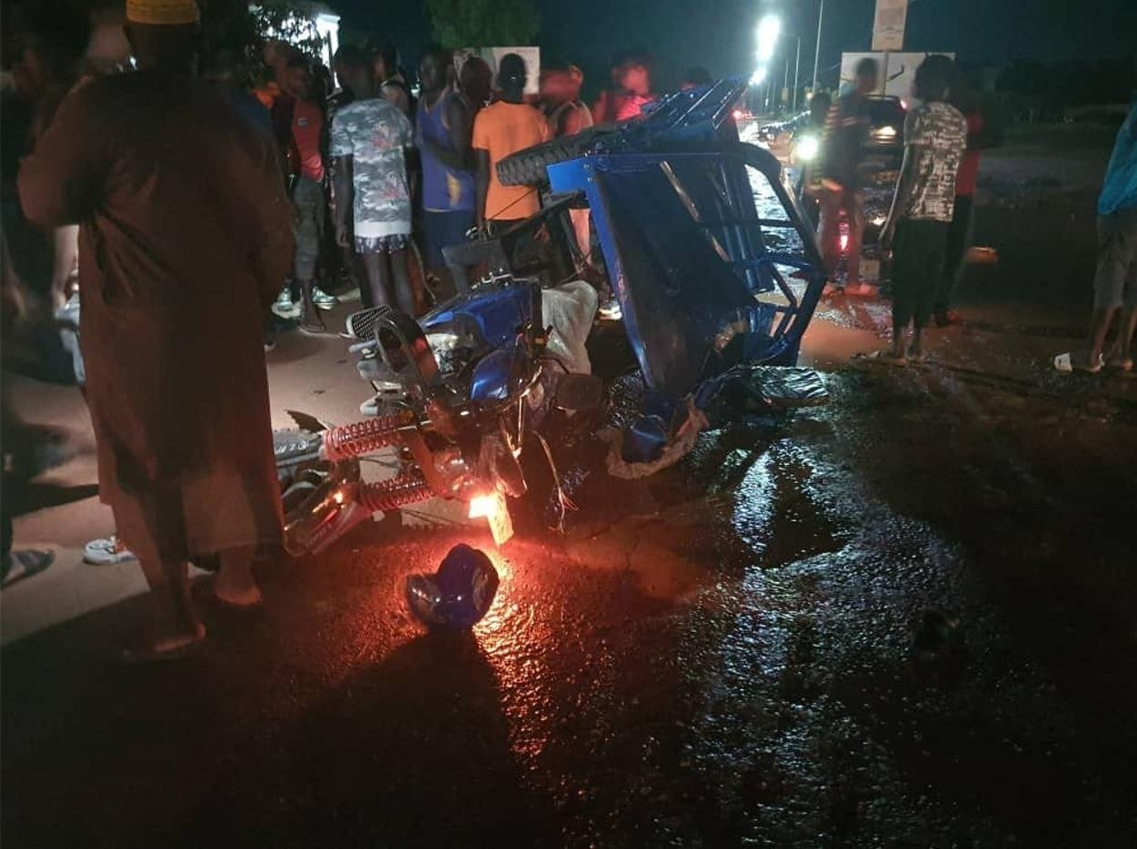 Tricycle Run over by ECOMIG