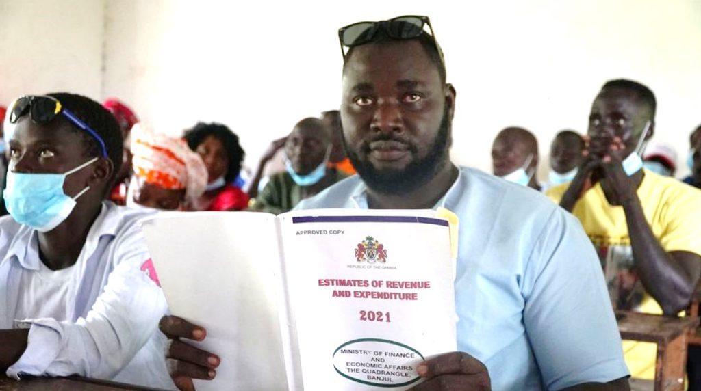 Participant at Gambia Participates meeting (c) Gambia Participates