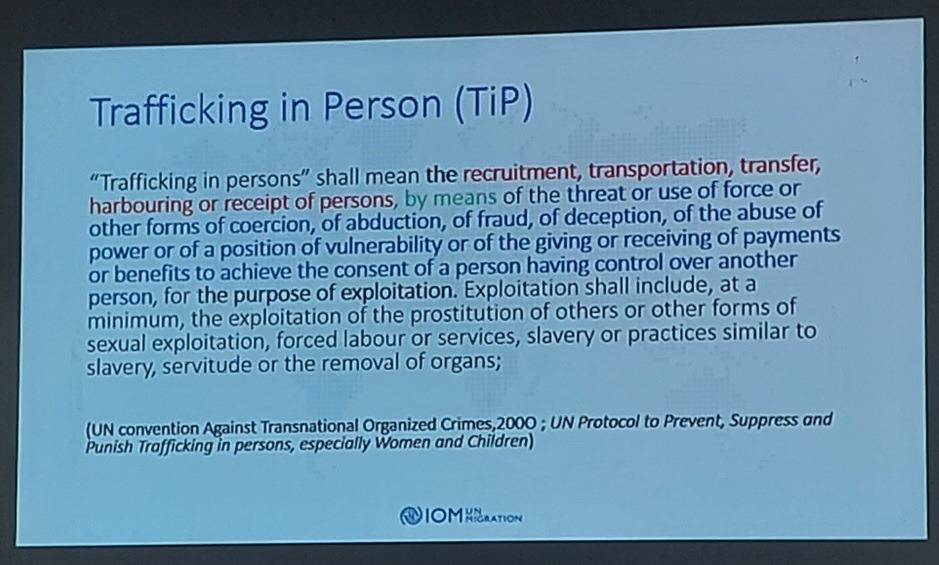 Definition of Trafficking in Person (TiP)