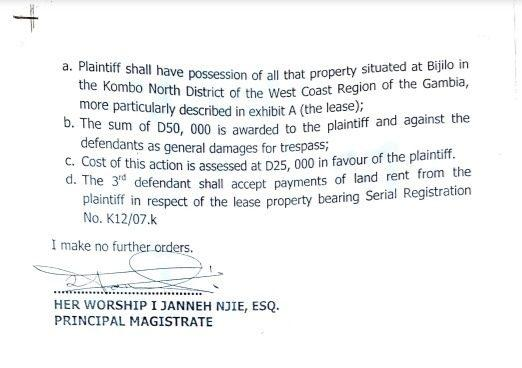 Kanifing Mag Court Ruling pg 2